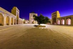 View of Kolon mosque at night, Bukhara, Uzbekistan. Stock Photography