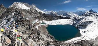 View from kongma la pass - sagarmatha national park Royalty Free Stock Photo