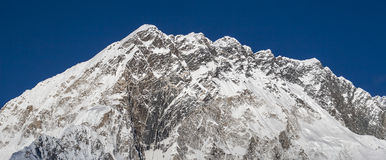 View of the Kongma Tse (Mehra Paek) from the village of Lobuche Royalty Free Stock Image