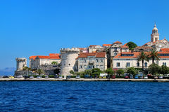 View of Korcula old town, Croatia Royalty Free Stock Photo