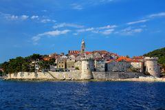 View of Korcula old town, Croatia Royalty Free Stock Image