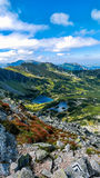View from Koscielec mountain. S to the valley Royalty Free Stock Image