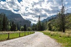 View on Koscielisko Valley in Tatra Mountains royalty free stock photography