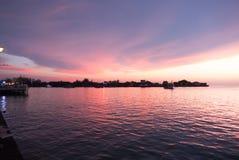 Kota Kinabalu Waterfront Sunset Stock Images