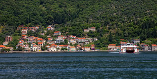 View of Kotor Bay Stock Photography