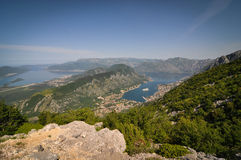 View of Kotor Bay from Lovcen National Park Stock Photography