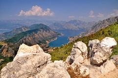 View of Kotor Bay Royalty Free Stock Image