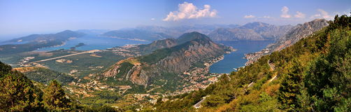 View of Kotor Bay in Monte Negro Stock Image