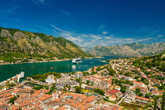 View on Kotor bay and Old Town. From Lovcen Mountain. Montenegro Stock Photography