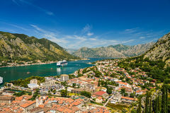 View on Kotor bay and Old Town. From Lovcen Mountain. Montenegro Royalty Free Stock Image