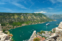 View on Kotor bay. And Old Town from Lovcen Mountain. Montenegro Stock Images