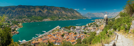 View of kotor bay on sunny day, Kotor Royalty Free Stock Images