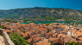 View of kotor bay on sunny day, Kotor, Montenegro Stock Photos