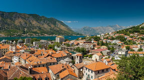 View of kotor bay on sunny day, Kotor, Montenegro Stock Photography
