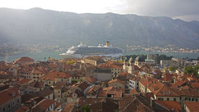 View from the Kotor city wall Montenegro - Selective focus stock images