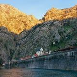 View of Kotor fortress. Montenegro Royalty Free Stock Photos