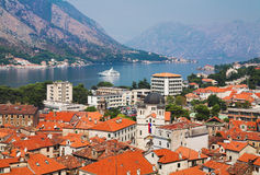 View of the Kotor and Kotor Bay Royalty Free Stock Images