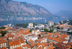 View of the Kotor and Kotor bay, Montenegro Royalty Free Stock Photography