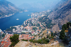 View of the Kotor and Kotor Bay, Montenegro Royalty Free Stock Image