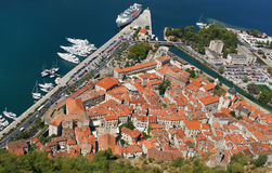 View on Kotor, Montenegro. Bird's-eye view on Kotor, Montenegro Stock Image
