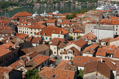 View on Kotor, Montenegro. Bird's-eye view on Kotor, Montenegro Royalty Free Stock Images