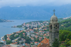 View of Kotor old town from Lovcen Mountain Stock Images