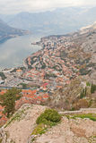 View of Kotor from St John castle, Montenegro Royalty Free Stock Image