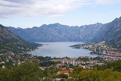 View of Kotor town and Kotor bay Royalty Free Stock Photo