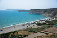 View on Kourion Beach Stock Photos