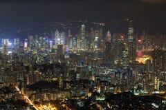 View of Kowloon at dark Stock Photo