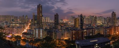 Hong Kong sunset stock photos
