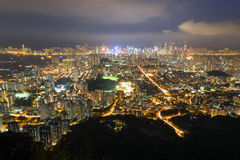 View of Kowloon in Hong Kong at dark Stock Photography