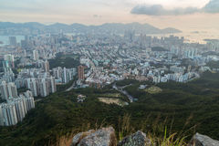 View of Kowloon in Hong Kong Stock Photo