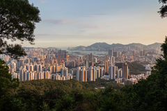 View of Kowloon in Hong Kong Royalty Free Stock Photography