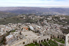 View from Krak des Chevaliers Royalty Free Stock Image