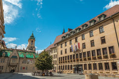 View of the main square of Bratislava Slovakia. Nice view of Bratislava in Slovakia stock image
