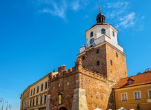 View of the Krakow Tower in Lublin Stock Photo
