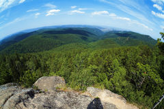 View from Krasnoyarsk pillars in Siberia Royalty Free Stock Photography