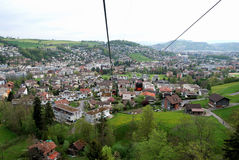 View of Kreins lifted to Pilatus Stock Image