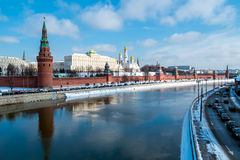 Kremlin and Moskva River Stock Photo