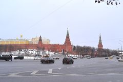 View of the Kremlin. In the capital city Moscow Stock Photo