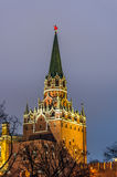 View on Kremlin Castle in Moscow Stock Image