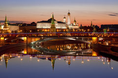 View of the Kremlin at dawn Stock Photography
