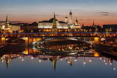 View of the Kremlin at dawn. Moscow. Russia royalty free stock photos