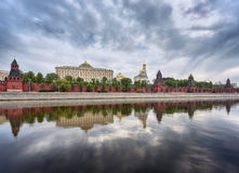 View of the Kremlin and the Kremlin embankment. Moscow, Russia. Stock Image