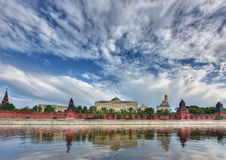 View of the Kremlin and the Kremlin embankment. Moscow, Russia. Royalty Free Stock Image