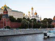 View of Kremlin and Kremlin Embankment in Moscow stock photography