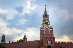View of the Kremlin In Moscow royalty free stock image