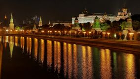 The view on the Kremlin, Moscow River and Kremlin stock video