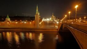 The view on the Kremlin, Moscow River, Red Square Stock Photos